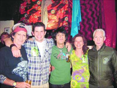 Rolling Stones with The Wooden Monkey owner