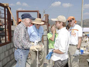 Jimmy Carter & Brad Pitt