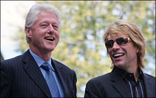 Bill Clinton & Jon Bon Jovi
