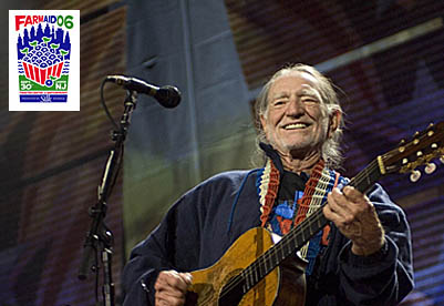Farm Aid, Willie Nelson. Photo credit: Paul Natkin