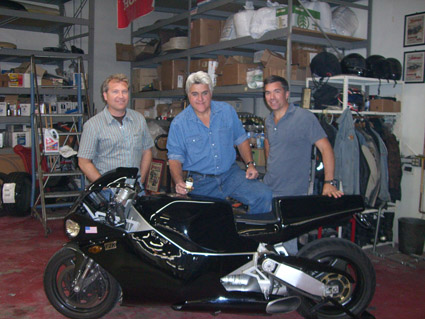 Jay Leno on Biodiesel Bike