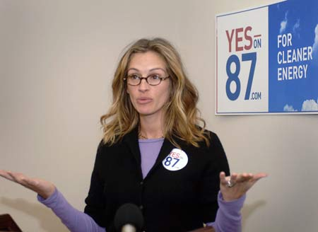 Julia Roberts Speaks Out on Prop 87