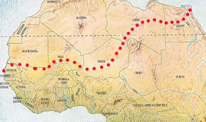 Running the Sahara route
