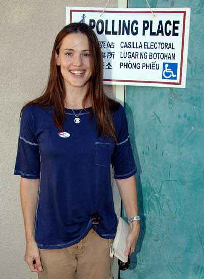 Jennifer Garner Votes