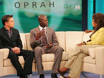 Leonardo DiCaprio, Djimon Hounsou, Oprah