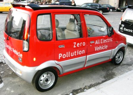 Miles ZX40 Red Electric Car. Photo Credit: Melissa Rosenberg