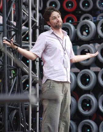 Zach Braff @ Live Earth. Photo Credit: Johnia!