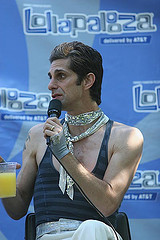 Perry Farrell at Lollapalooza 2007. Photo credit: Jason Crawford