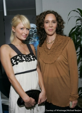 Tzeporah Berman and Paris Hilton at The 11th Hour