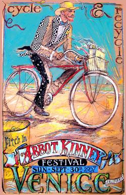Abbot Kinney Festival 2007. Artwork by Earl Newman