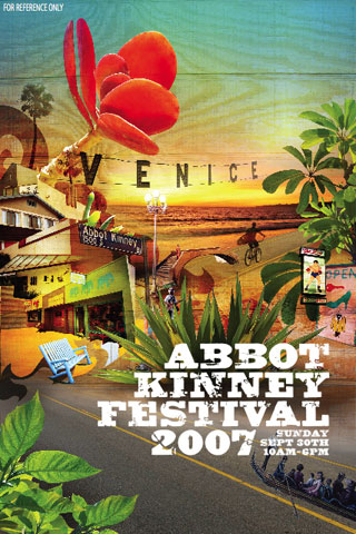 2007 Abbot Kinney Festival. Designed by Kenneth Thelian & Huei Peng Lee