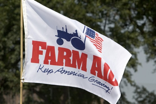 Farm Aid Flag. Photo Credit: Matthew Krautheim.