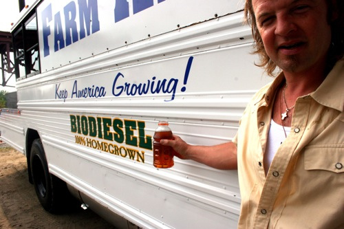 Farm Aid Biodiesel Bus. Photo Credit: Matthew Krautheim