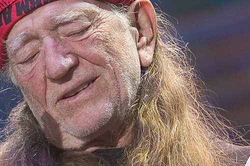 Willie Nelson at Farm Aid. Photo credit: Matthew Krautheim.