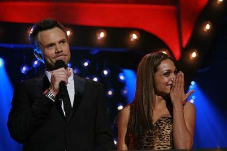 Joel McHale & Rosario Dawson at 17th Annual EMA Awards. Photo Credit: Tiffany Koury, Berliner.