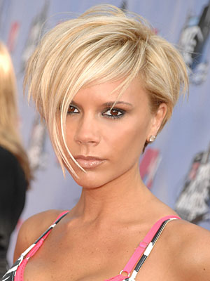 Victoria Beckham short bob hairstyles pictures
