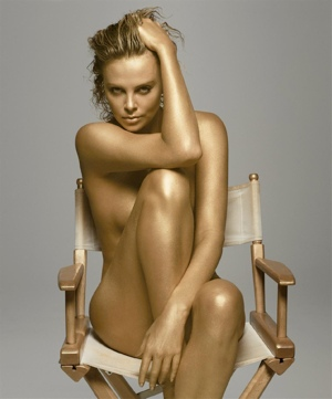 charlize theron, nude, peta, naked, topless, actress