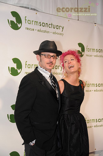 Dan Piraro and Ashley Lou Smith at the 2008 Farm Sanctuary Gala