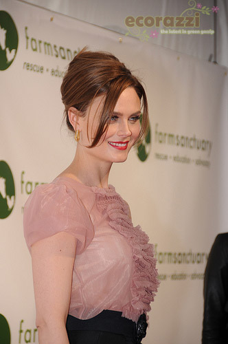 Emily Deschanel at the 2008 Farm Sanctuary Gala