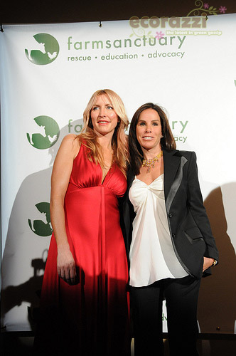 Heather Mills and Melissa Rivers at the 2008 Farm Sanctuary Gala