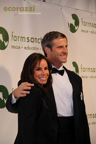 Melissa Rivers and Gene Baur at the 2008 Farm Sanctuary Gala
