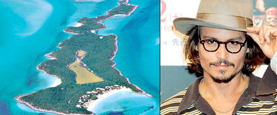 reveal that actor Johnny Depp is planning on converting his island home