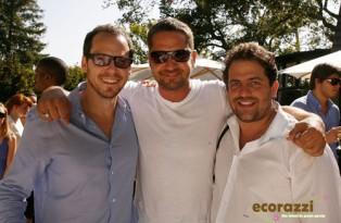 Eli Halliwell, Gerard Butler, and Brett Ratner at the Jurlique Biodynamic BBQ