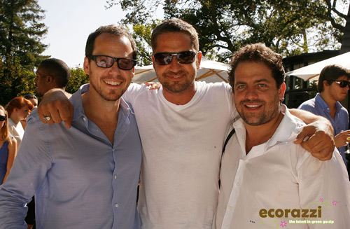 Eli Halliwell, Gerard Butler, and Brett Ratner at the Jurlique Biodynamic BBQ