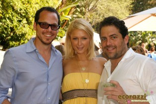 Eli Halliwell, Paris Hilton, and Brett Ratner at the Jurlique Biodynamic BBQ