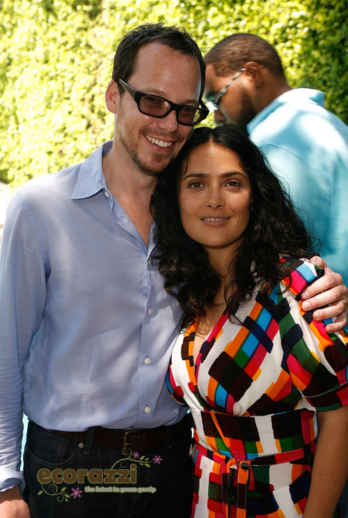 Eli Halliwell and Salma Hayek at the Jurlique Biodynamic BBQ