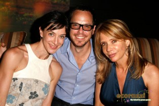 Erica Halliwell, Eli Halliwell, and Rosanna Arquette at the Jurlique Biodynamic BBQ
