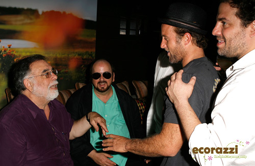 Francis Ford Coppola, Scott Caan and Brett Ratner at the Jurlique Biodynamic BBQ