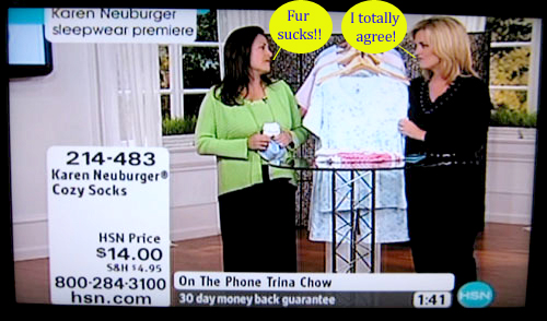 The home shopping network goes fur free ecorazzi