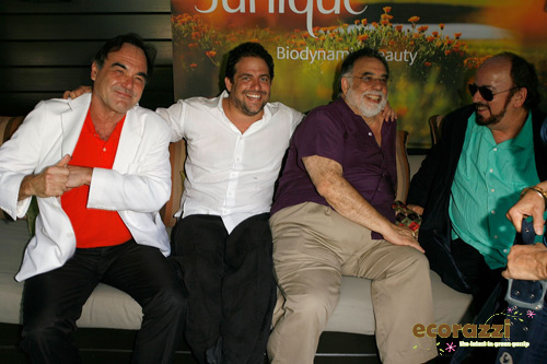 Oliver Stone, Brett Ratner, and Francis Ford Coppola at the Jurlique Biodynamic BBQ