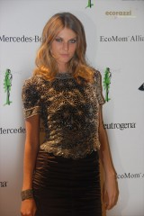 Angela Lindvall at the 2008 Be Eco Chic Launch Party -- Photo credit: Melissa Rosenberg