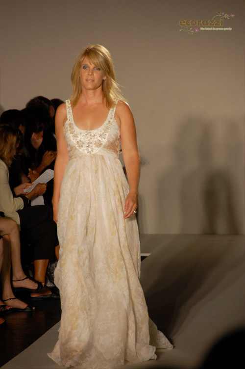 Laura Turner Seydel modeling at the 2008 Be Eco Chic Launch Party -- Photo credit: Melissa Rosenberg