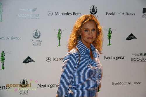 Lauren Hutton at the 2008 Be Eco Chic Launch Party -- Photo credit: Melissa Rosenberg