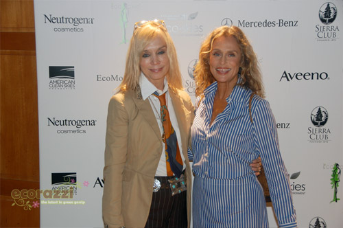 Fashion Designer Maggie Norris and Lauren Hutton at the 2008 Be Eco Chic Launch Party -- Photo credit: Melissa Rosenberg