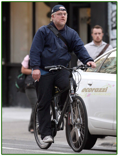 Philip Seymour Hoffman Biking