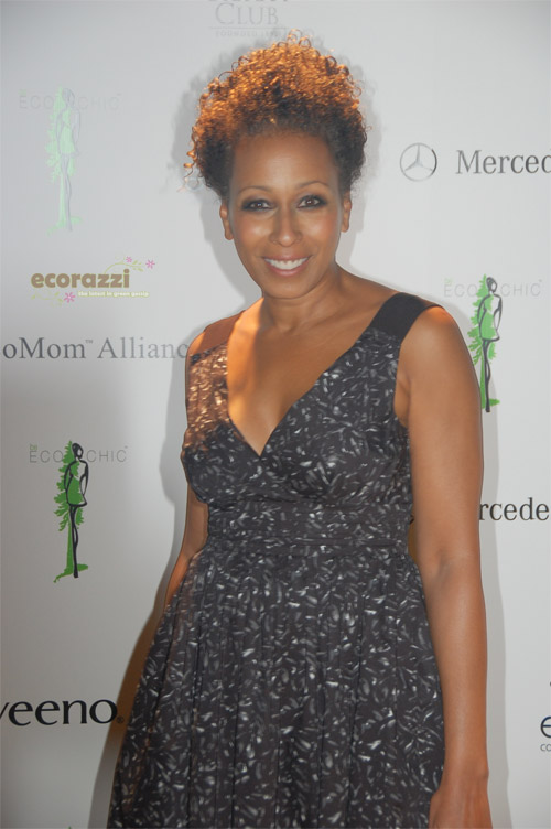Tamara Tunie arrives at the 2008 Be Eco Chic Launch Party -- Photo credit: Melissa Rosenberg