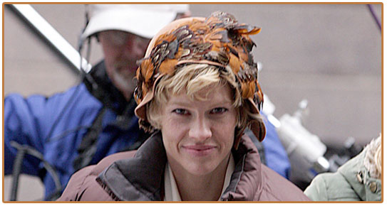Actress Hilary Swank as Amelia Earhart in the new film 'Amelia'