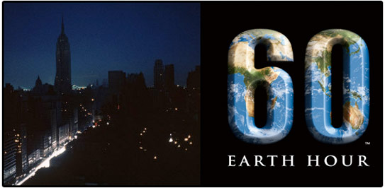 earth hour, nyc, empire state building