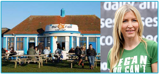 heather mills, seaside cafe, vegan