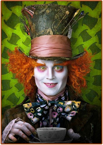 johnny depp, mad hatter, alice in wonderland