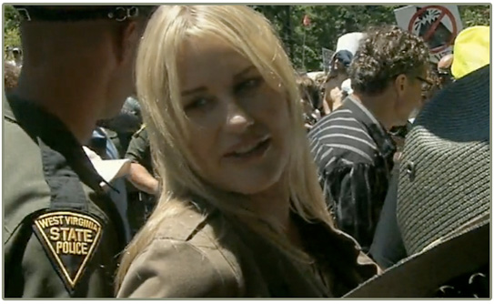 daryl hannah, arrest, mountaintop removal