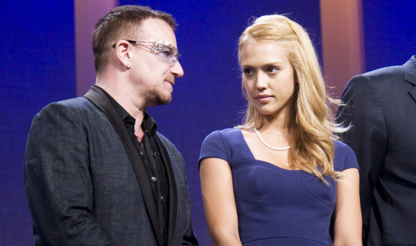jessica alba, bono, clinton global initiative, 1GOAL, children, global education