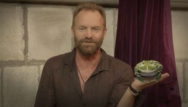 sting, prince charles, rainforest, eco, green, frog, message in a bottle