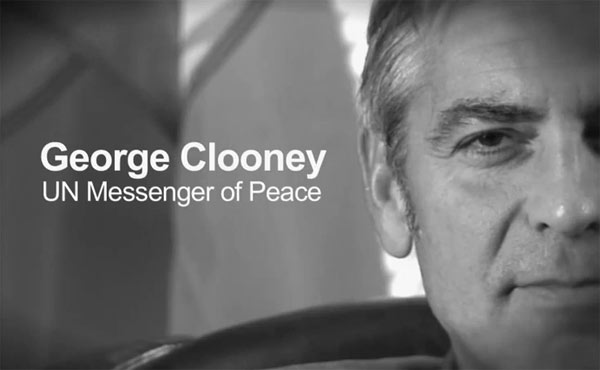 george clooney, un messenger of peace, activism