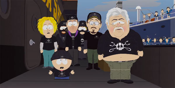 paul watson, sea shepherd, south park, whale whores, whale wars