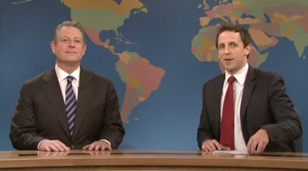 al gore, saturday night live, eco, green, climate crisis, factory farming